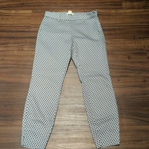 H&M Blue and White Cropped Pants size 4